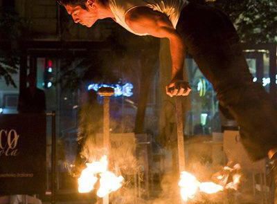 Equilibre sur canne, Labo M Arts / © Guidu