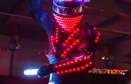Show laser futuriste, Labo M Arts / © Studio Derozier