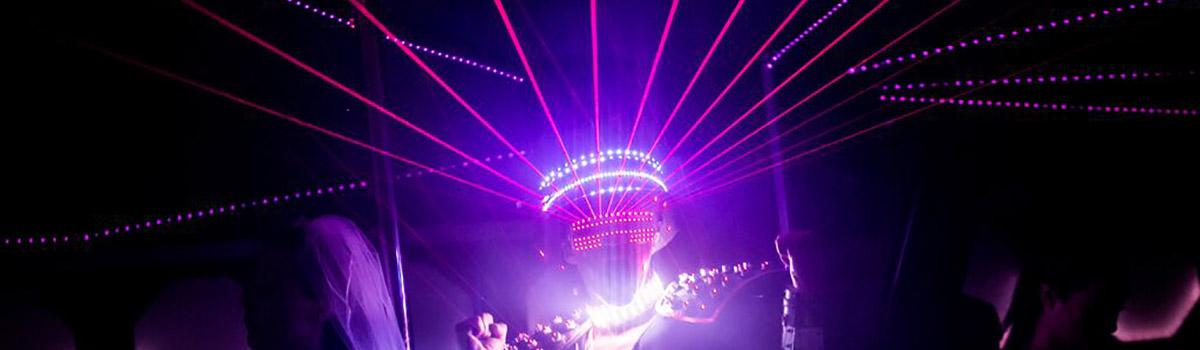 Show Laser Futuriste, Ibiza Labo M Arts / © DR