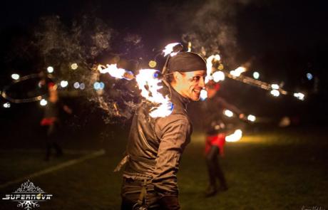 Spectacle de feu et de pyrotechnie, Labo M Arts / © Supernova