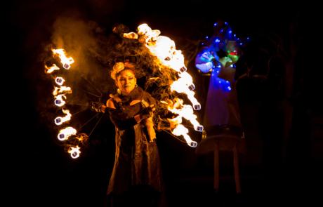 Spectacle de feu et de pyrotechnie, Labo M Arts / © Jean-Claude Devaux